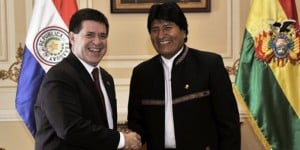 """Presidentes de Paraguay y Bolivia piden """"respetar y garantizar su derecho de acceso al mar y desde el mar"""""""