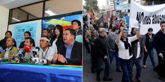 Ecuador: organizaciones sindicales e indígenas se suman a las protestas y marchan hoy contra el gobierno