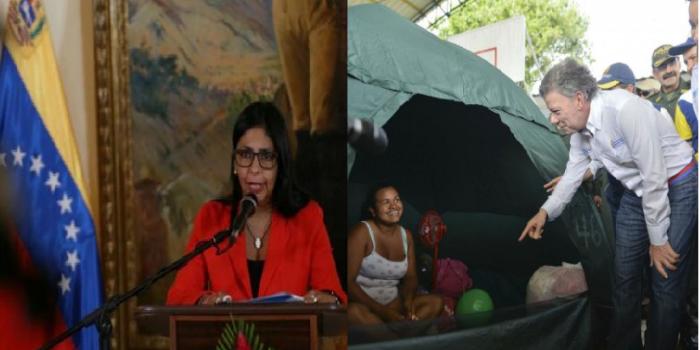 Crisis fronteriza: Venezuela rechaza injerencia de EEUU mientras Santos supervisa trato humanitario del lado colombiano