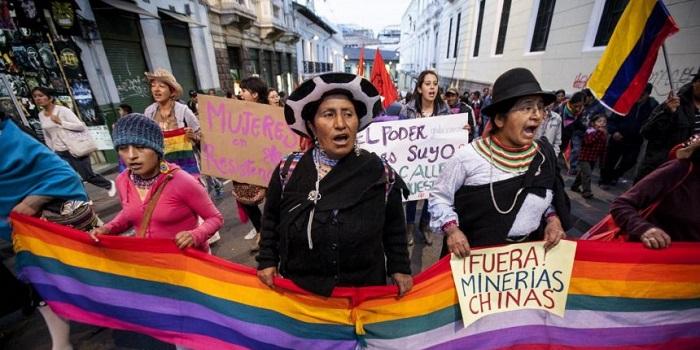 Protestas en Ecuador: asamblea popular convoca a mantener el levantamiento y mujeres piden que se visibilice su participación