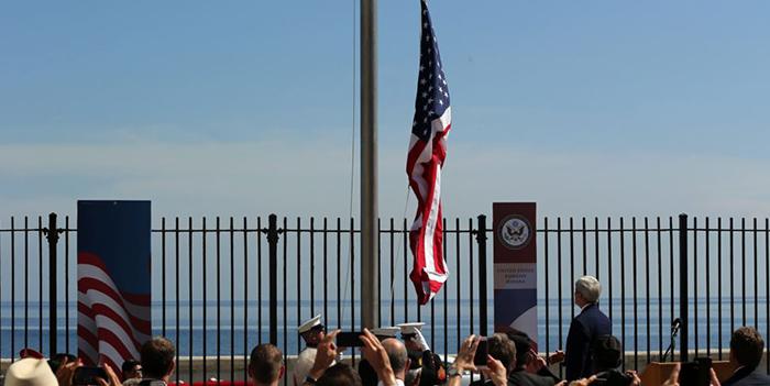 Estados Unidos inauguró oficialmente su embajada en Cuba
