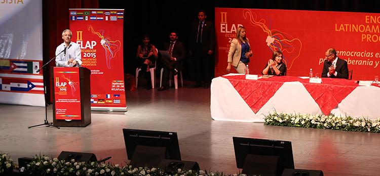 Quito, 29 de septiembre de 2015.- Vicepresidente Jorge Glas Espinel, participó de la II encuentro latinoamericano progresista ELAP 2015. Foto: Wladimir Játiva/Vicepresidencia.