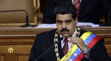 Venezuela's President Nicolas Maduro speaks at the national assembly in Caracas, July 6, 2015. Maduro on Monday said to the national assembly that he was recalling Venezuela's ambassador in neighboring Guyana for consultations amid an escalating row over oil exploration in disputed offshore territory. Exxon Mobil Corp had said it had discovered oil off Guyana's coast, spurring complaints from Caracas that Guyana is unfairly exploiting a disputed territory that must be negotiated through a mechanism created via a 1966 treaty signed in Geneva. Guyana's new government has attacked a subsequent territorial decree by Maduro as an attempt to annex its waters following the discovery.     REUTERS/Jorge Dan Lopez