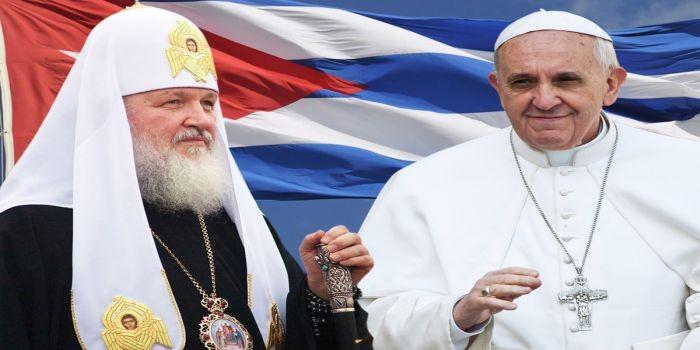 Papa y patriarca ruso en Cuba