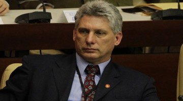 Newly elected Cuban Vice President Miguel Diaz-Canel attends the closing session of the National Assembly of the Peoples Power in Havana February 24, 2013. When Cuban President Raul Castro named former engineering professor and long-time Communist Party insider Miguel Diaz-Canel as his first vice president and potential successor on Sunday, he chose managerial skills over flair. Diaz-Canel, 52, is the youngest non-military man to come so close to the pinnacle of power in Cuba since the Castro brothers took power in 1959. He was appointed first vice president on Sunday at a meeting of the National Assembly where Castro also announced he would step down in 2018 at the end of his second five-year term as president. Picture taken February 24, 2013. REUTERS/Desmond Boylan (CUBA - Tags: POLITICS) - RTR3EAMD