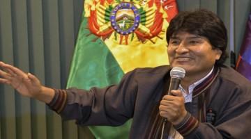 25 febrero 2016, La Paz.- El presidente Evo Morales en conferencia de prensa luego de la reunión de gabinete ampliado, en el Hotel Flor de Liz de Huajchilla. (Fotos: Freddy Zarco)
