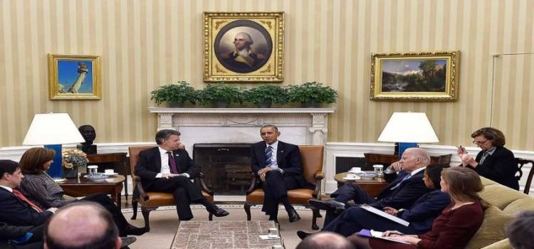 En la Casa Blanca, los presidentes de Colombia y EEUU dieron un nuevo paso en la integración, reunidos con sus equipos de gobierno