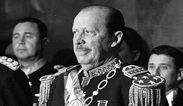 Paraguayan Dictator Alfredo Stroessner...01 Apr 1977, Asuncion, Paraguay --- Paraguayan dictator Alfredo Stroessner in April 1977. --- Image by  Horacio Villalobos/Corbis