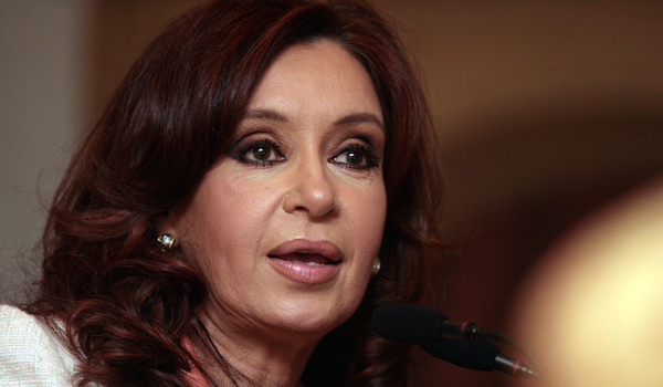 08 Oct 2007, Buenos Aires, Argentina --- Argentina's First Lady and presidential candidate Cristina Fernandez de Kirchner, speaks during a meeting with bussines leaders in Buenos Aires. --- Image by © Diego Giudice/Corbis