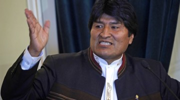 Bolivia's President Evo Morales speaks during a ceremony at the government palace in La Paz, Bolivia, Wednesday, June 1, 2011.  (AP Photo/Juan Karita)