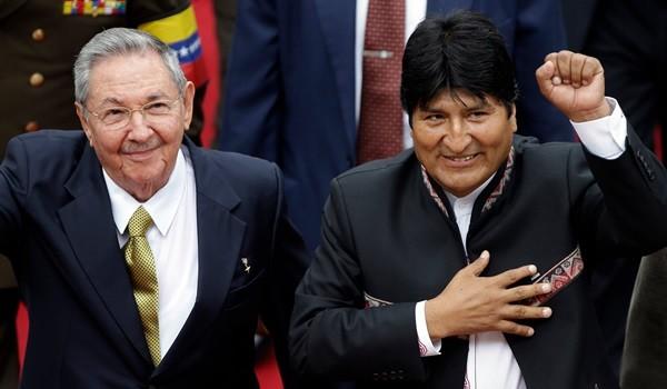 Raul Castro, Evo Morales