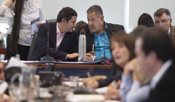 zzzznacp2NOTICIAS ARGENTINAS BAIRES, MAYO 4: El diputado Luciano Laspina encabeza el plenario de las comisiones de Presupuesto y Hacienda y Legislación del Trabajo. Foto NA: DAMIAN DOPACIOzzzz