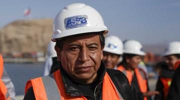 El Canciller boliviano David Choquehuanca,  en horas de esta tarde, logra entrar al Puerto de Arica, en un tour turístico, Fotos Patricio Banda/Aton Chile