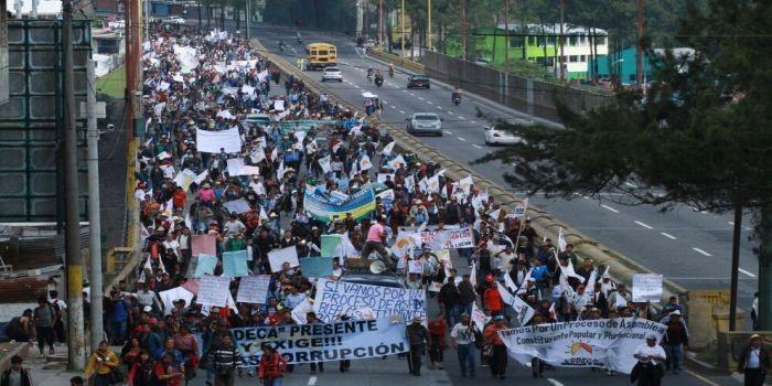 marcha indigenas guatemala