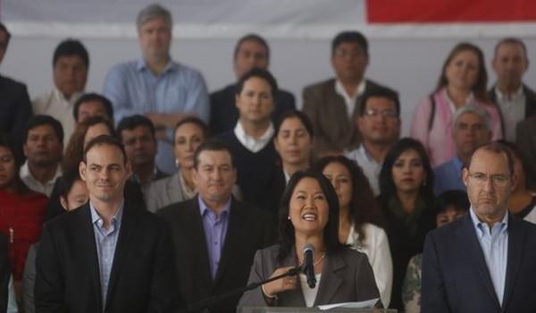 CONFERENCIA / PRONUNCIAMIENTO DE KEIKO FUJIMORI TRAS RESULTADOS DE LA ONPE AL 100% JUNTO A SUS CONGRESISTAS ELECTOS