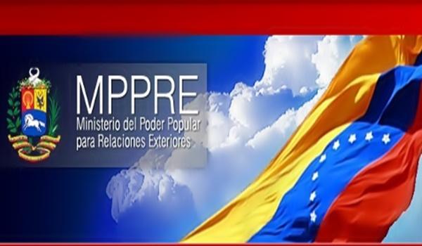 Comunicado Del Ministerio Del Poder Popular Para Las Relaciones Exteriores De Venezuela En El
