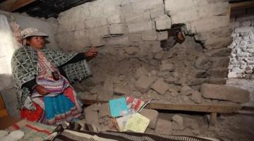 Sismo en la ciudad de Maca en Arequipa
