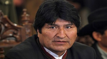 Bolivia's President Evo Morales attends a ceremony at the government palace in La Paz, Bolivia, Wednesday, June 1, 2011. (AP Photo/Juan Karita)