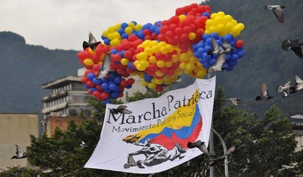 Marcha Patriotica Dialogos de Paz