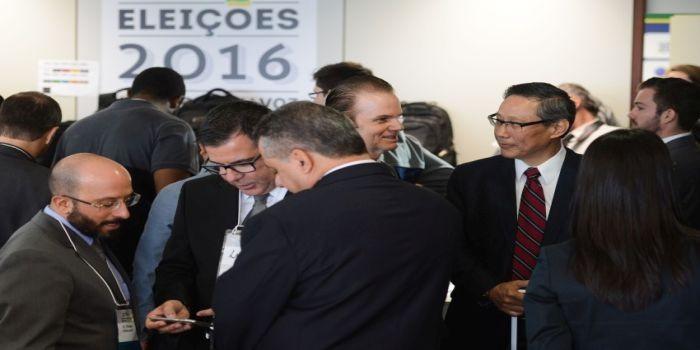 Brasília - O Tribunal Superior Eleitoral (TSE) realiza a terceira edição do teste público de segurança do sistema eletrônico de votação, no Centro de Divulgação das Eleições (CDE) do TSE. (Antonio Cruz/Agência Brasil)