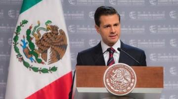 El presidente Enrique Peña Nieto, durante la Cumbre Mundial de Negocios, ayer en Puebla