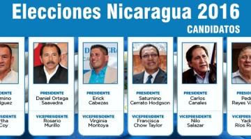 candidatos nicaragua