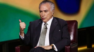 Michel Temer, president of Brazil, speaks during a Bloomberg Television interview in New York, U.S., on Monday, Sept. 19, 2016. Temer expects significant budget savings only after 2020 from a pension reform proposal he intends to present to Congress before year-end, the country's pension secretary said in an interview. Photographer: Christopher Goodney/Bloomberg