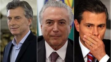 Resultado de imagen de Macri, Temer y Peña Nieto, huérfanos de Hillary