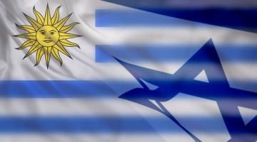 Banderas Uruguay Israel