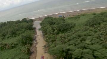 18/09/2013. Fotos del nuevo canal hecho por los nicas en Isla Calero tomadas por el Ministerio de Seguridad Pública.
