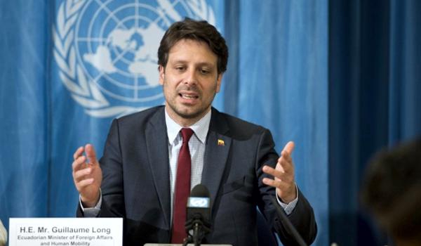 """Guillaume Long, excanciller de Ecuador: """"UNASUR siempre fue vista con  hostilidad por la política exterior de los Estados Unidos"""" - NODAL"""