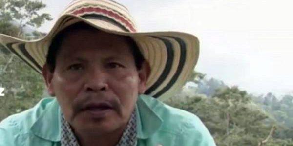 Constantino Ramírez Bedoya, primer líder indígena asesinado en el Quindío el pasado 18 de octubre. Foto: Organización Nacional Indígena de Colombia (Onic)