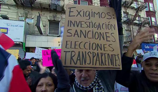 Foto ilustrativa: protestas en Estados Unidos tras la suspensión de las elecciones el pasado 16 de febrero.