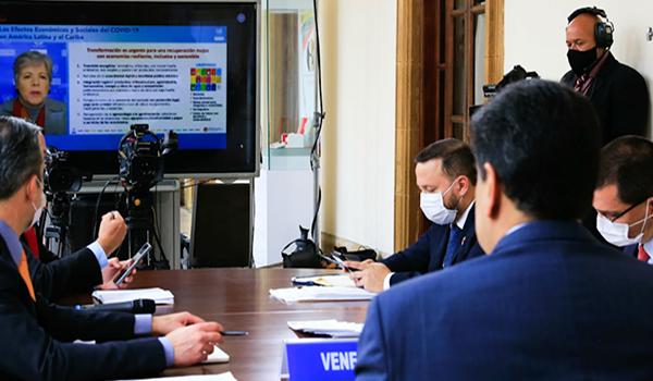 Secretaria Ejecutiva de la Cepal, Alicia Bárcenas, participa en videoconferencia de la ALBA