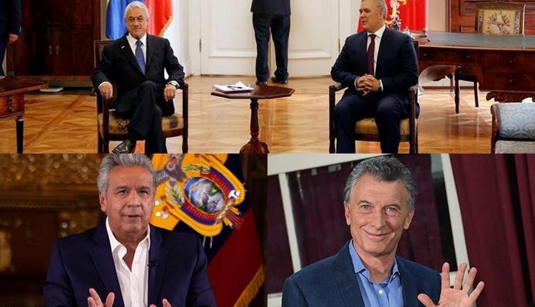 """Piñera, Duque, Moreno, Almagro y Macri en un foro en Miami """"en defensa de la democracia en las Américas"""""""
